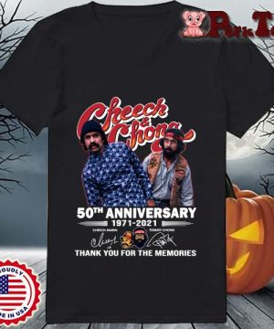 Cheech And Chong 50th anniversary 1971-2021 thank you for the memories signatures s Ladies Porktee den