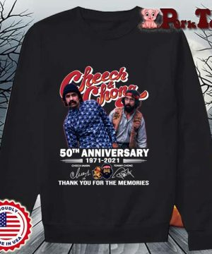 Cheech And Chong 50th anniversary 1971-2021 thank you for the memories signatures s Sweater Porktee den