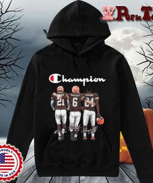 Cleveland Browns Champion Mayfield Chubb signatures s Hoodie Porktee den