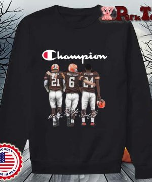 Cleveland Browns Champion Mayfield Chubb signatures s Sweater Porktee den
