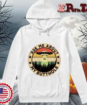 UFO ask Me about my butthole vintage sunset s Hoodie Porktee trang